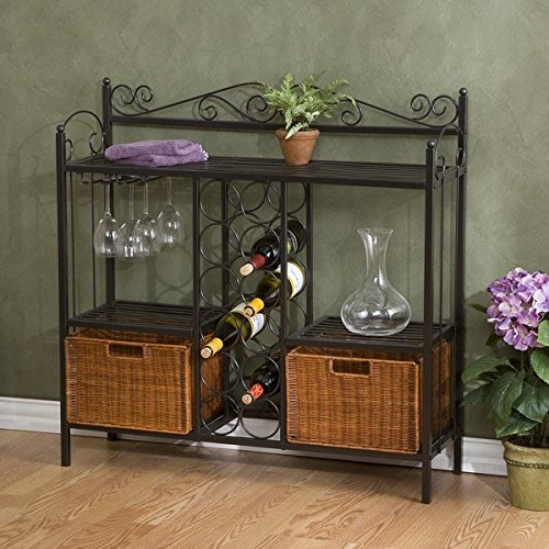 Home Decoration Baker's Rack with Wine Storage by Harper Blvd (Image #2)