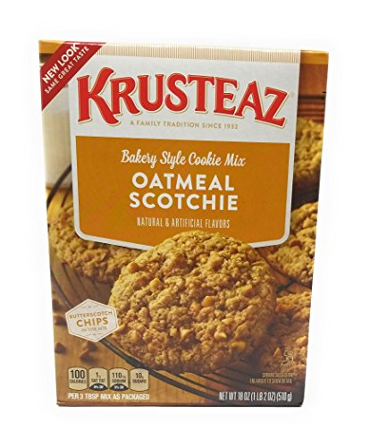 Krusteaz Cookie Mix (Krusteaz, Oatmeal Scotchie Cookie Mix, 18oz Box (Pack of 3))