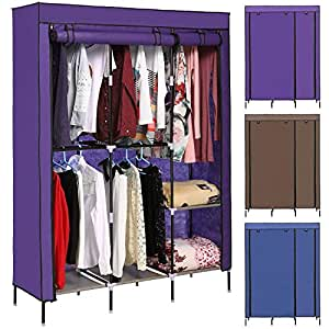 Amazon.com: Garain Detachable Freestanding Wardrobe DIY Non-woven Closet Folding Portable