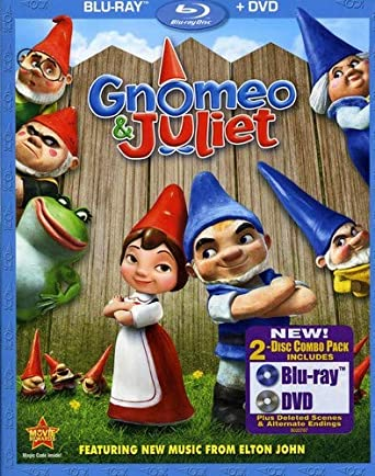 Amazon Com Gnomeo Juliet Two Disc Blu Ray Dvd Combo James Mcavoy Emily Blunt Kelly Asbury Movies Tv