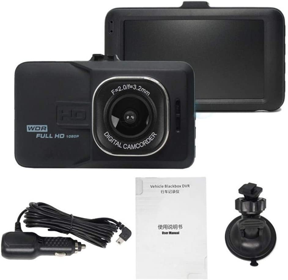 HOTUEEN Dash Cam 1080P HD Multi-Function Loop Video Recording Driving Recorder Car Video with 3 Inch LCD Screen 120/° Wide Angle G-Sensor