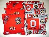 8 Cornhole Bean Bags Ohio State Buckeyes Osu Bucks All Weather Waterproof