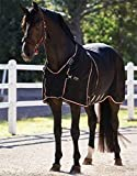 Rambo Optimo Stable Sheet - Size:75 Color:Black/TanOrange&Black