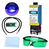 2500mW 450nm Blue Light Laser Module with Protective Glasses for CNC 3D Printer DIY Engraving Machine (2500mW)