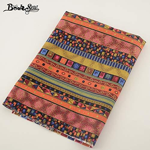 Booksew Home Textile Bohemia National Style Cotton Linensewing Tissu Tablecloth Pillow Bag Curtain Cushion Zakka cm