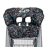 2-in-1 Shopping Cart and High Chair Cover for Baby~Padded~Fold'n Roll Style~Portable with Free Carry Bag (Black Circle)