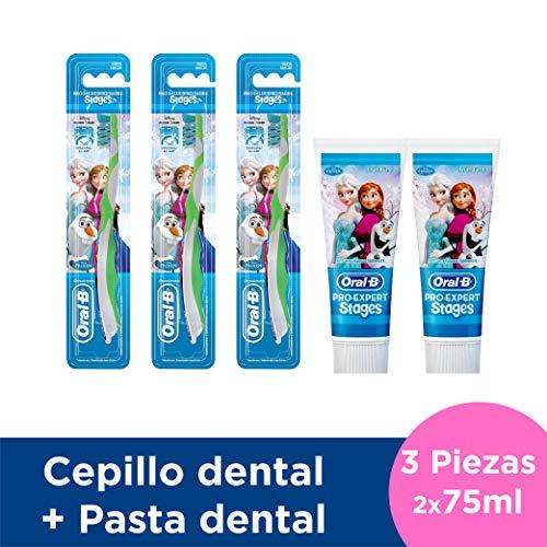 Oral-B Kids Frozen 3 Cepillos y 2 Pastas de Dientes