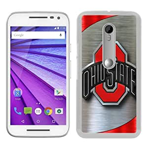 Motorola Moto G 3rd Generation Case ,Ncaa Big Ten Conference Football Ohio State Buckeyes 9 white Moto G 3rd Gen Cover Fashionable And Unique Custom Designed Phone Case