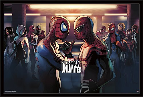 Trends International Spider-Man Unlimited-Subway Framed Poster, 24.25