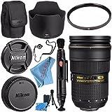 Nikon AF-S NIKKOR 24-70mm f/2.8G ED Lens 2164 + 77mm UV Filter + Lens Pen Cleaner + Fibercloth + Lens Capkeeper + Lens Cleaning Kit Bundle