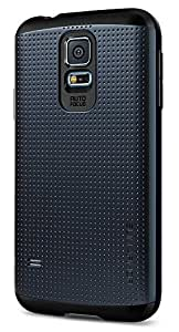 Spigen Slim Armor Galaxy S5 Case with Air Cushion Technology and Hybrid Drop Protection for Samsung Galaxy S5 2014 - Metal Slate