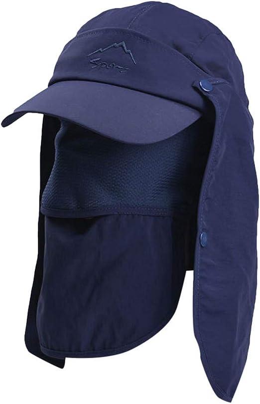RISTHY Sombrero de Sol Unisex 360 ° Protección Solar Gorro de ...