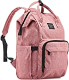 Diaper Bag Backpack for Girls by KiddyCare Multi-Function Waterproof Maternity Nappy Bags for Travel with Baby, Large Capacity, Durable and Stylish, Pink