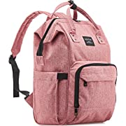 KiddyCare Diaper Bag Backpack - Multi-Function Waterproof Maternity Nappy Bags for Travel with Baby - Large Capacity, Durable and Stylish, Pink