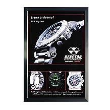 "Elegant Ultra Slim LED Light Box Illuminate Store Sign Holder - Centch Edgelit Acrylic with Aluminum Snap Frame Advertising Display for Promotion Thickness 0.4"" PFT Type 16"" x 20"" Single Sided Black"