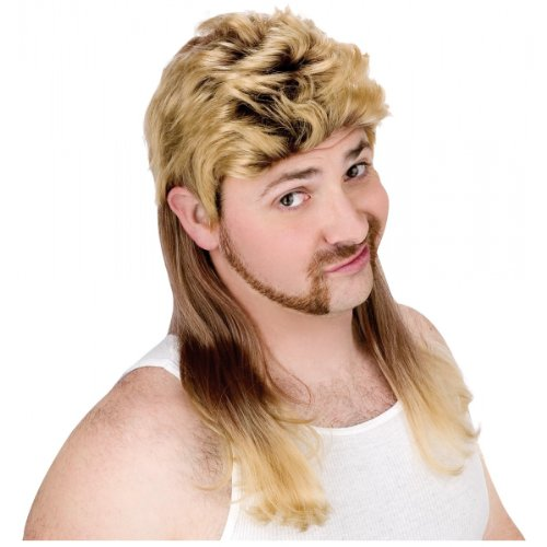 Super Mullet Wig Costume Accessory -