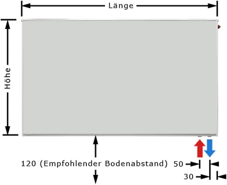 Buderus Logatrend Ventil-Flachheizk/örper VC-Plan Typ 21 BH 300 vers Halter /… BL: 1000 mm L/ängen