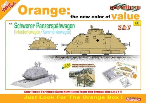 Cyber Hobby 1/35 Schwerer Panzerspähwagen Kommandowagen/Infanteriewagen (2 in 1) + Armored Reconnaissance Figure Set