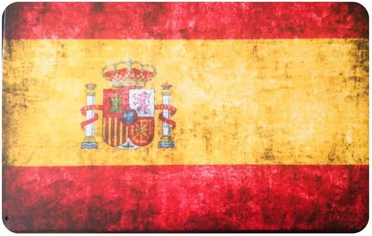 MARQUISE & LOREAN Placas Decorativas Pared Bandera España Decoración Carteles Vintage Metálicos MIRA (20 x 30 cm): Amazon.es: Hogar