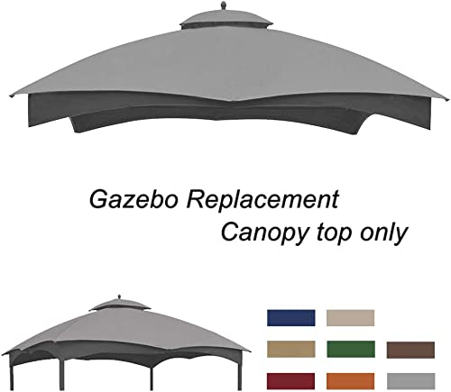Eurmax Replacement Canopy Top for Lowe s Allen Roth 10X12 Gazebo GF-12S004B-1 Gray