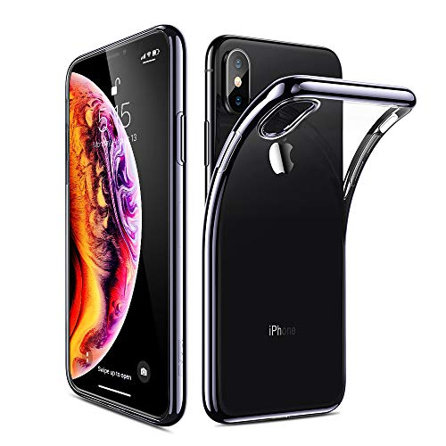 ESR Essential Twinkle Case for iPhone Xs Max, Slim Soft TPU Cover [Supports Wireless Charging] for The iPhone Xs Max 6.5 (Released in 2018), Black Frame