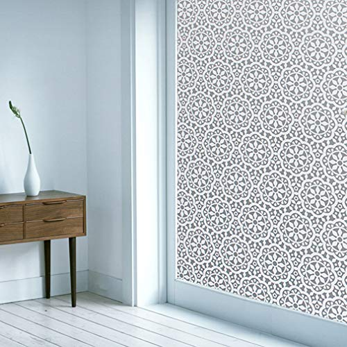 Ablave Window Film Privacy Static Window Clings Vinyl Non-Adhesive Window Stickers Frosted Window Film Tint for Glass Door Home Heat Control Anti UV 17.5 x 78.7 Inches