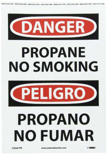NMC ESD667PB Bilingual OSHA Sign, Legend