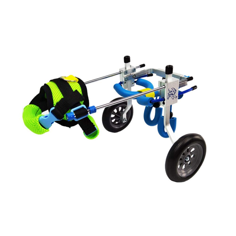 AXCW Pet Wheelchair Trolley, Assisted Walking Suitable for Disabled Dogs/Cats Large, Medium and Small Pets 2-Wheel Adjustable,M