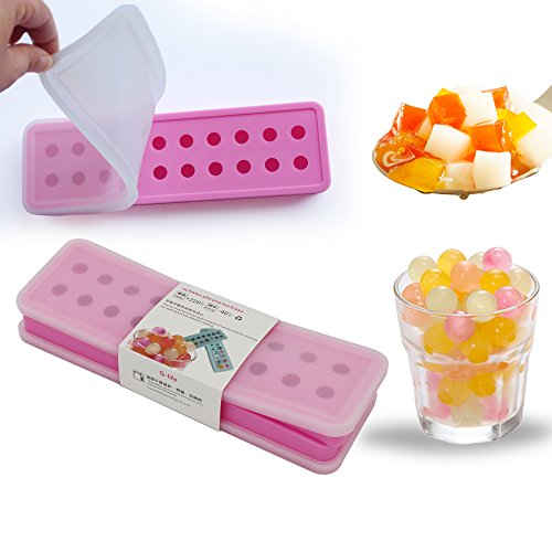 Q-life(Set of 2 With lid) Mini Silicone 20 Cavities Ice B...