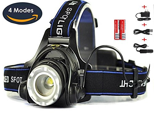 Best Super Bright Headlamp Light | Rechargeable Head Torch | Hands Free Head Flashlight LED Lamp with Battery | Water Resistant Drop Resistant Head Lamp Spotlight for Camping Fishing Running - To Do What Running When