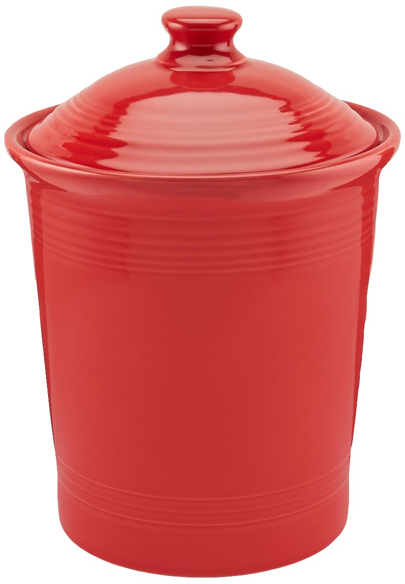 amazon com fiesta 3 quart large canister scarlet kitchen