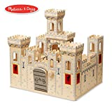 "Melissa & Doug Folding Medieval Wooden Castle (Pretend Play Set, Drawbridge and Turrets, Sturdy Construction, 27"" H x 15.25"" W x 17.5"" L)"