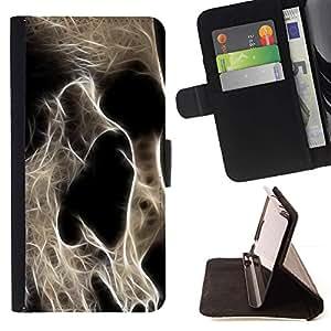 Momo Phone Case / Flip Funda de Cuero Case Cover - Cráneo Esqueleto Arte Muerte Cabeza Anatomía - Samsung Galaxy A3