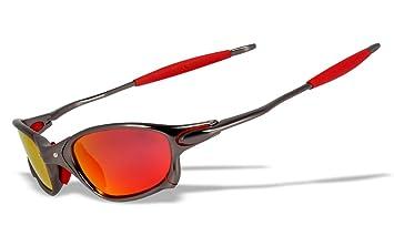 Gafas de sol para deportes, con marco de aleación de aluminio polarizados originales (JL/RM)
