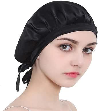 Leisuretime Night Sleep Cap, Mulberry Silk Sleeping Cap for Women Long Hair Cover Bonnet for Sleep Hair Protection