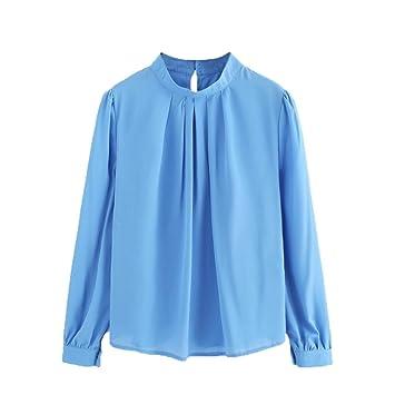 8fd42796069 Women Shirt, Among Fashion Summer Blouse Casual Chiffon Long Sleeve Tops  Loose Pure Color Coat