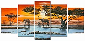 Elephant African Canvas Wall Art