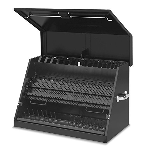 Montezuma - LA400B - 30-Inch Portable TRIANGLE Toolbox - Multi-Tier Design - 16-Gauge Construction - SAE and Metric Tool Chest - Weather-Resistant Toolbox - Lock and Latching -