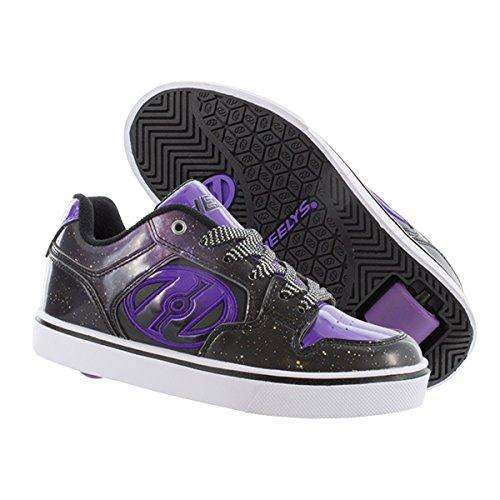 Heelys Kids Motion Black/Purple/Galaxy Sneaker - 4