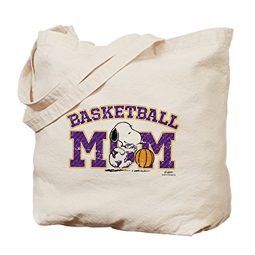 CafePress – Snoopy baloncesto mamá – Tote Bag