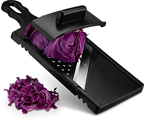 Gourmia GMS9340 Cabbage Shredder, Jumbo Mandoline Slicer and Grater - Eggplant and Cabbage Slicer with Hand Guard - Ultra Sharp Stainless Steel - Slicer and Cutter for Large Vegetables - BPA Free (Best Cabbage For Coleslaw)