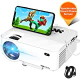 "Mini Projector, TOPVISION Projector with Synchronize Smart Phone Screen, Upgrade to 3600Lux, 1080P Supported, 176"" Display, 50,000 Hours Led, Compatible with Fire Stick,HDMI,VGA,USB,TV,Box,Laptop,DVD"