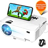 "Electronics : Mini Projector, TOPVISION Projector with Synchronize Smart Phone Screen,1080P Supported, 176"" Display, 50,000 Hours Led, Compatible with Fire Stick,HDMI,VGA,USB,TV,Box,Laptop,DVD"