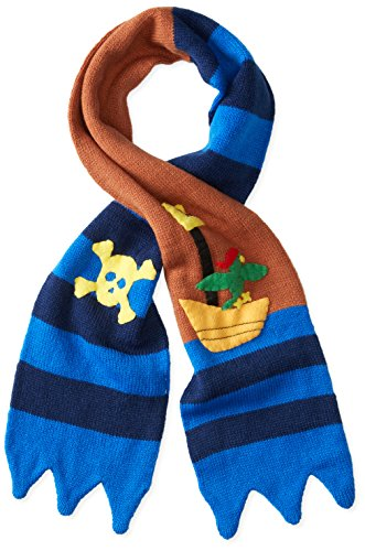 Kidorable Pirate Scarf, Soft Knit Scarf for Kids, Blue, One Size Fits Most, Knit Winter Hat for Toddlers, Little Kids, Big (Blue Neckwear)