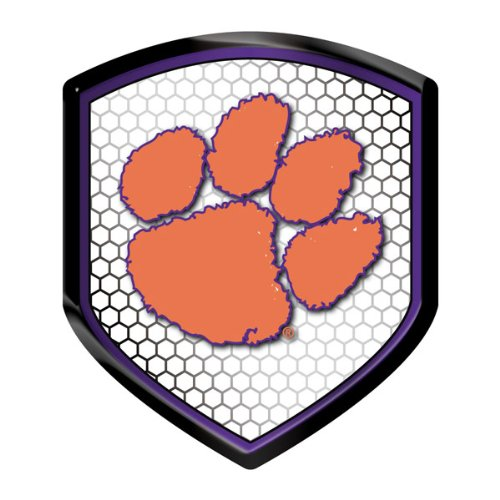 Clemson Tigers NCAA Reflector Decal Auto Shield for Car Truck Mailbox Locker Sticker College Licensed Team Logo (Tigers Car Auto)
