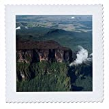 3dRose Danita Delimont - Mountain - Aerial of Mount Roraima, tepui plateaus, South America. - 20x20 inch quilt square (qs_258466_8)