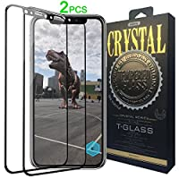 iPhone X Screen Protector, REMAX Full Coverage Tempered Glass Front Case Friendly 3D Touch HD Clear Anti-Scratch 9H Hardness Screen Protector Film for Apple iPhone X 2017 Black (pack of 2) by REMAX