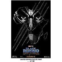 RARE REGAL POSTER chadwick boseman BLACK PANTHER marvel 2018 movie REPRINT #'d/100!! 12x18
