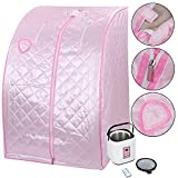 Koval Inc. 2L Portable Steam Sauna Tent SPA Detox Weight Loss W Chair Color Opt (Pink)