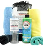 Waterless Car Wash & Wax Kit by Drought Buster(TM), Cleans Polishes Protects Car with Ounces of Water, 16oz SuperConcentrate=2 gals, Easy-to-use, safe detailing system Biodegradable